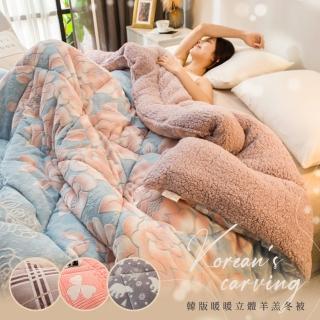 【BELLE VIE】台灣製造 羊羔法蘭絨加厚暖暖被150X200cm(多款任選)