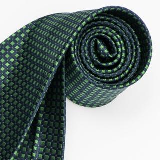 【極品西服】經典品味絲100%格紋領帶_ 籃底綠(YT5018)