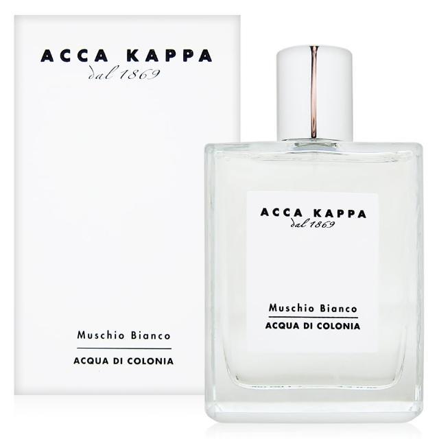 【ACCA KAPPA】白麝香男性古龍水100ml+隨機針管香水一份(部落客推薦)