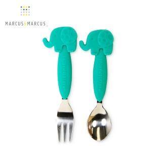 【加拿大MARCUS&MARCUS】動物樂園不鏽鋼叉匙餐具組(大象)