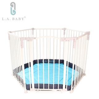 【L.A. Baby 加州貝比】遊戲圍欄/護欄 兒童圍欄/護欄 安全圍欄/護欄 寵物圍欄護欄(贈遊戲墊)