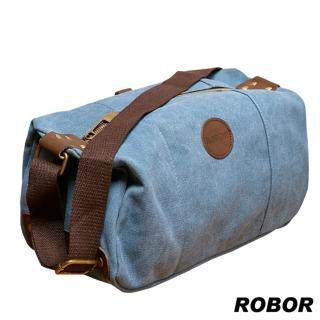 【韓系型男ROBOR】摩登風潮長筒型休閒包/側背/斜背包(藍色)