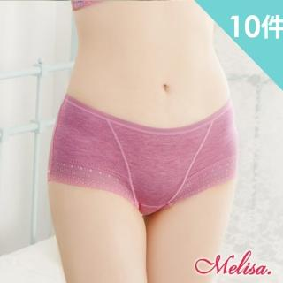 【魔莉莎】MIT台灣製新科技水晶紗素雅時尚柔軟透氣女內褲10件組(E316)