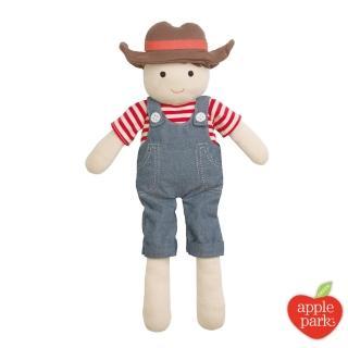 【美國 Apple Park】農場好朋友系列 有機棉 安撫玩偶(農場男孩)