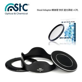 【STC】Hood-Adapter 轉接環 快拆 遮光罩組+CPL 偏光鏡(For SONY RX100 M1-5)