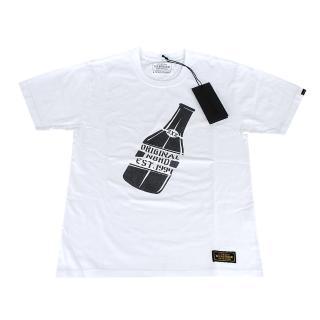 【NEIGHBORHOOD】TOKYO經典限量潮流簡約塗鴉酒瓶純棉短袖T(S/白)