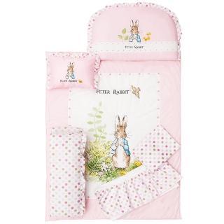 【奇哥】花園比得兔六件床組-L(粉紅)