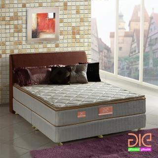【aie享愛名床】竹碳 羊毛 記憶膠真三線彈簧床墊-雙人加大6尺 實惠型