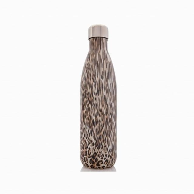 【Swell】Khaki Cheetah-25oz-美國時尚不鏽鋼保冷.保溫瓶750ml(Textile COLLECTION)