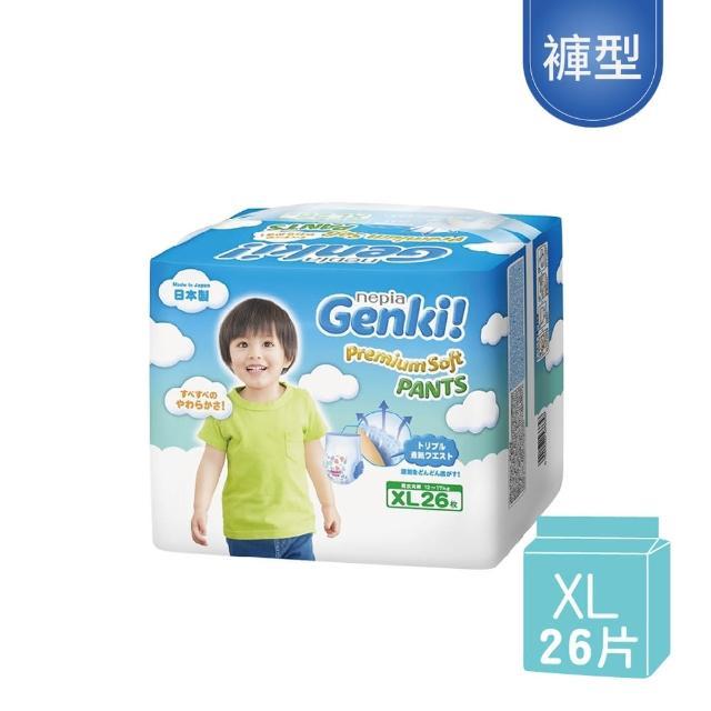 【王子GENKI】超柔軟拉拉褲/褲型尿布(XL26)/