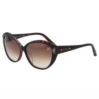 【SWAROVSKI】-貓眼水鑽 太陽眼鏡SW9056(琥珀色)