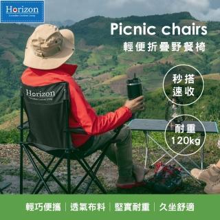 【Horizon 天際線】輕便折疊野餐椅(4色任選)