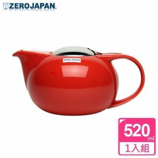 【ZERO JAPAN】嘟嘟陶瓷壺520cc(蕃茄紅)