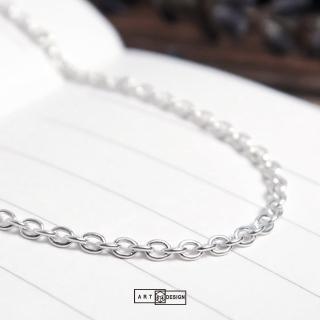 【ART64】經典圓圈細鍊 純銀長項鍊 毛衣鍊(28吋925純銀項鍊)