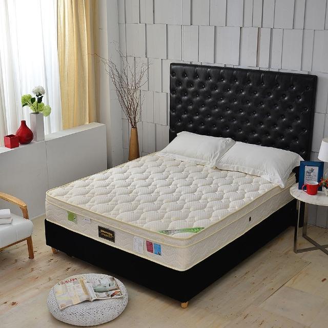【A+愛家】天皇三線-麵包床天絲乳膠(側邊強化獨立筒床墊-雙人5尺)