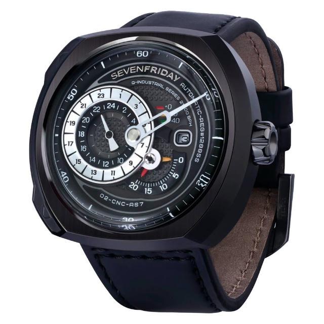 【SEVENFRIDAY】Q3 日期顯示自動上鍊機械錶-黑/44*50mm(Q3)