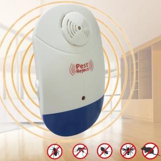【Bunny】新智能全方位LED超音波驅蚊蟲器驅鼠器(三入)