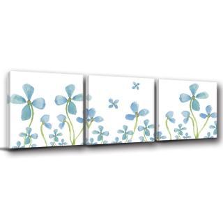 【123點點貼】三聯式無痕壁貼防潑水重覆黏貼不殘膠藝術創意壁飾-30x30cm(1626842)
