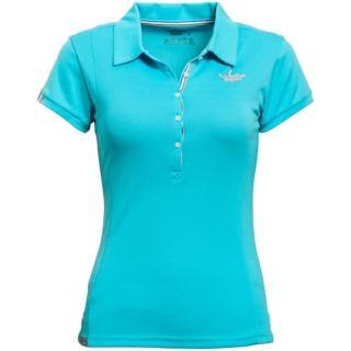 【北歐Weather Report】吸濕排汗休閒女POLO衫 / 藍綠(WF2201-01)