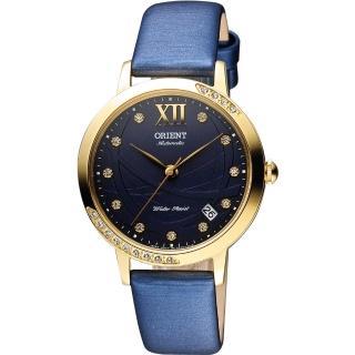【ORIENT】東方 時尚風采晶鑽機械腕錶-藍/36mm(FER2H004D)