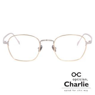 【Optician Charlie】韓國亞洲專利光學眼鏡TF系列(金 + 銀  TF GD)
