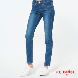 【BLUE WAY】冰絲弧線中腰小直筒褲- ET BOiTE 箱子