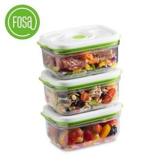 【FOSA真鮮寶】方型保鮮盒1450ml-3入(HFA31450快速到貨)