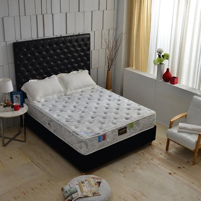 【A+愛家】乳膠服貼+德國銀離子涼感抗菌除臭(側邊強化獨立筒床墊-雙人加大6尺 麵包床)