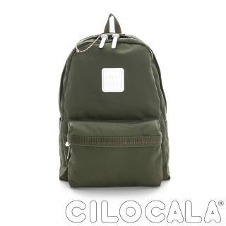 【CILOCALA】亮彩尼龍防潑水後背包-大包(橄攬綠)
