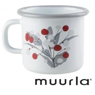 【芬蘭Muurla】Muurla琺瑯馬克杯-雪莓250ml(muurla 琺瑯杯 咖啡杯)