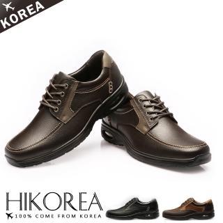 【HIKOREA韓國休閒鞋】正韓製/版型正常。嚴選真皮精細縫線舒壓氣墊休閒鞋(73-281/現貨)