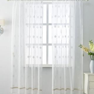 【伊美居】團圓刺繡落地窗紗 130x230cm-2件