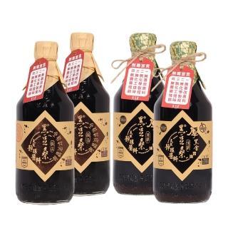 【黑豆桑】醬燒四入組(缸底醬油 550mlx2+厚黑金 550mlx2)