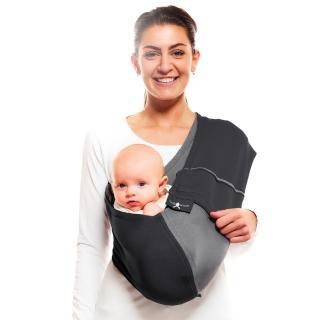 【荷蘭 wallaboo】袋鼠背巾(黑灰色)