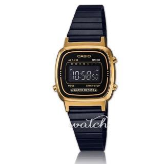 【CASIO 卡西歐】復古造型_時尚必備_不鏽鋼錶帶_電子錶_女錶(LA670WEGB)