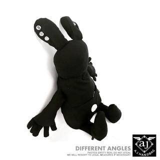 【A.J.亞介】暗黑兔子-帆布後背包.黑色(M2001)