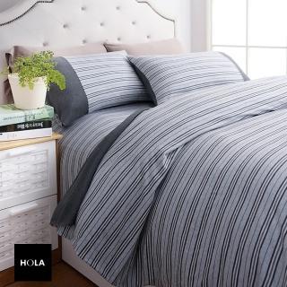 【HOLA】自然針織條紋床包加大
