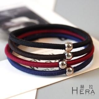 【Hera】赫拉 金屬珠珠基礎髮圈/髮束-十入組