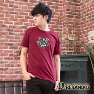 【Dreamming】TIGER立體浮雕萊卡彈力圓領短T(共三色)