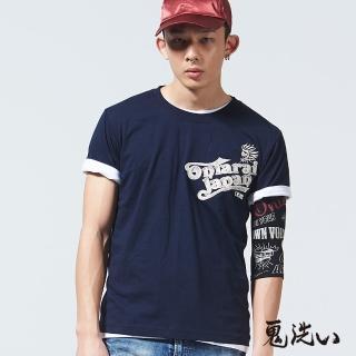 【BLUE WAY】假口袋繡字鬼頭短袖T恤-鬼洗