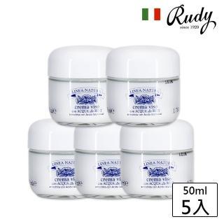 【義大利Rudy】玫瑰純露玻尿酸爆水凝霜50ml(買四送一熱銷組)