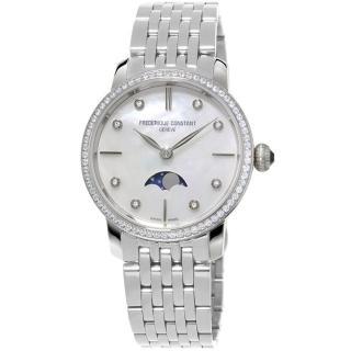 【康斯登 CONSTANT】SLIMLINE超薄系列月相女腕錶(FC-206MPWD1SD6B)