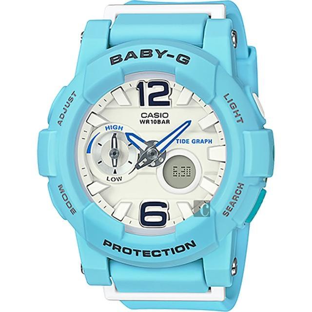 【CASIO】卡西歐 Baby-G 衝浪雙顯錶-藍(BGA-180BE-2BDR)