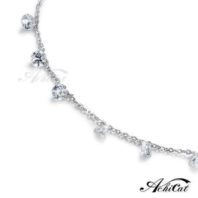 【AchiCat】腳鍊 正白K 點點露珠 銀色 J6003