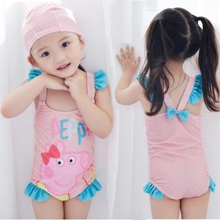 【小衣衫童裝】可愛粉色小豬連體泳衣(1060509)