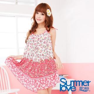 【夏之戀SUMMERLOVE】優雅玫瑰時尚三件式泳衣(E13738)