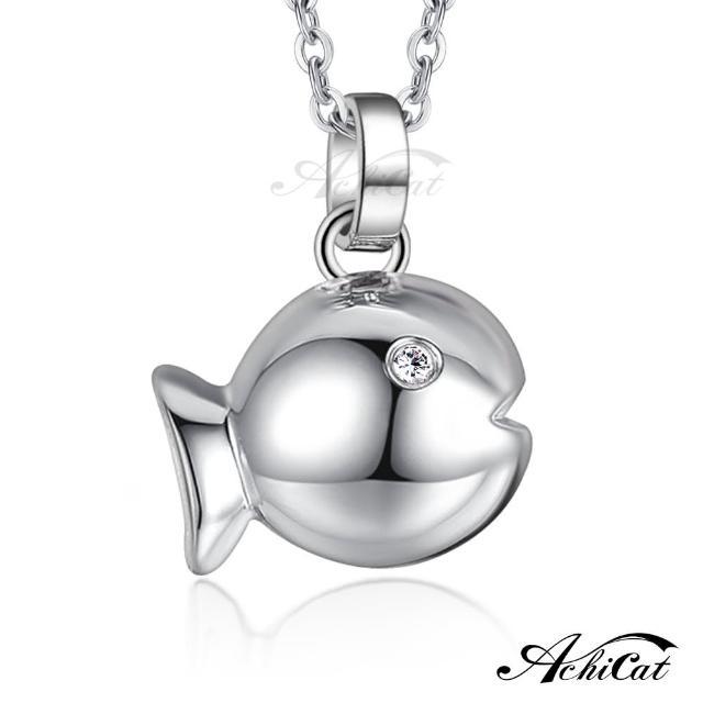 【AchiCat】鋼項鍊 珠寶白鋼 悠游小魚 C1541