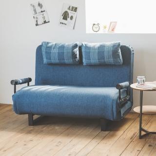 【完美主義】獨立筒機能厚實沙發床-附靠枕(五色可選)