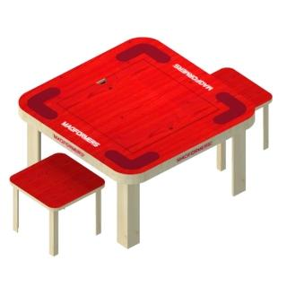 【MAGFORMERS】磁性建構片-專用遊戲桌(一桌二椅)