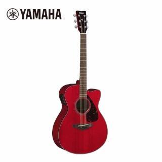 【YAMAHA 山葉】FSX800CRR 電民謠木吉他 烈焰紅色(附贈琴袋 背帶 以及彈片)